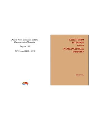 Primary view of object titled 'Patent-Term Extension and the Pharmaceutical Industry'.
