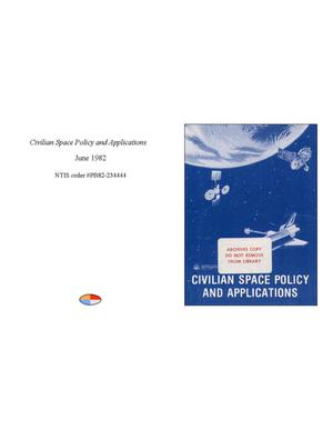Primary view of object titled 'Civilian Space Policy and Applications'.