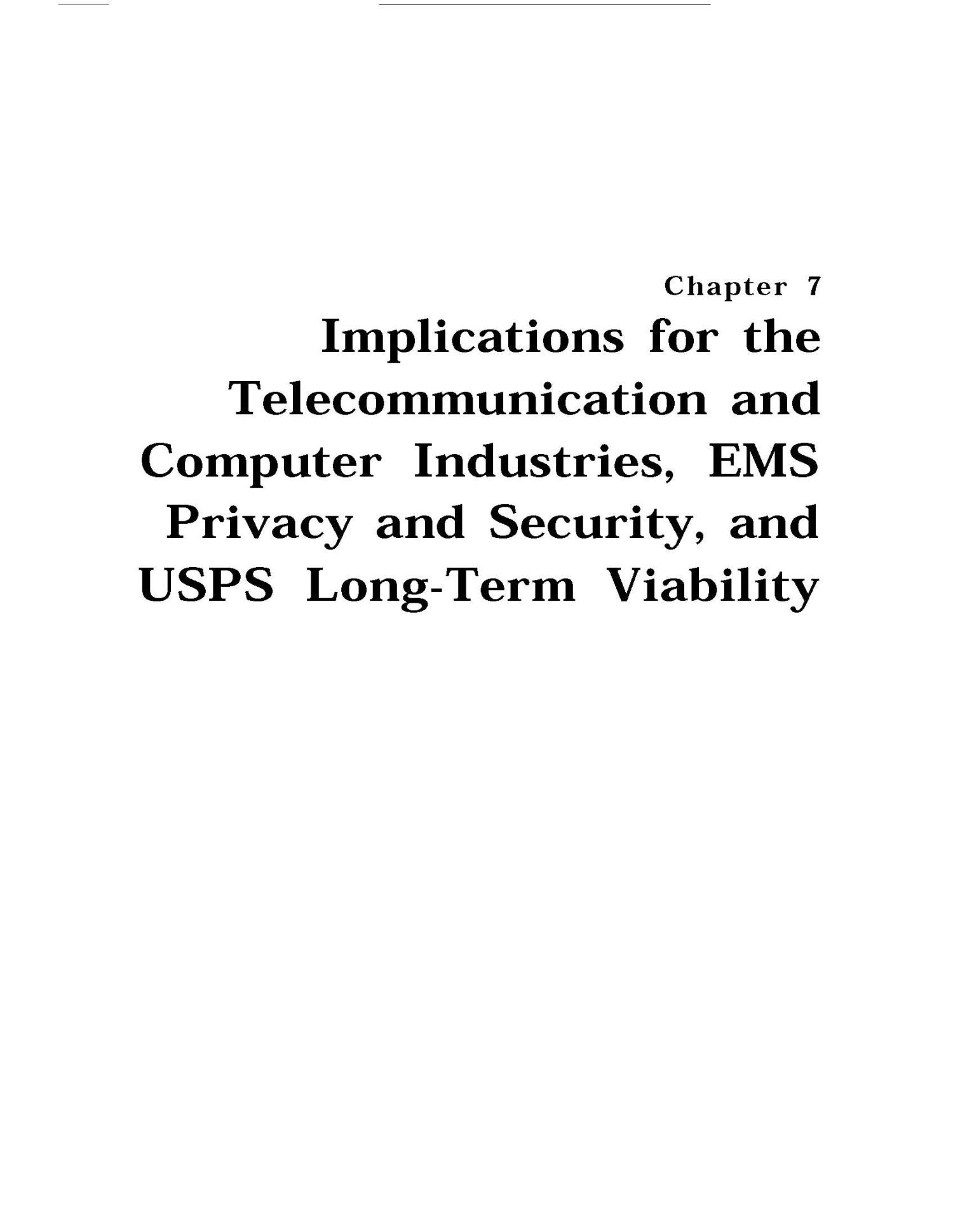 Implications of Electronic Mail and Message Systems for the U.S. Postal Service                                                                                                      71