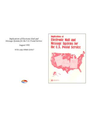 Implications of Electronic Mail and Message Systems for the U.S. Postal Service