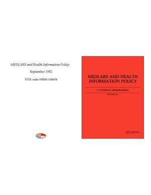 Primary view of object titled 'MEDLARS and Health Information Policy'.