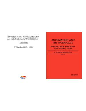 Automation and the Workplace: Selected Labor, Education, and Training Issues