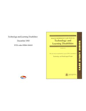 Primary view of object titled 'Health Technology Case Twenty-five: Technology and Learning Disabilities'.