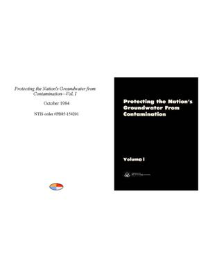 Primary view of object titled 'Protecting the Nation's Groundwater from Contamination: Vol. 1'.