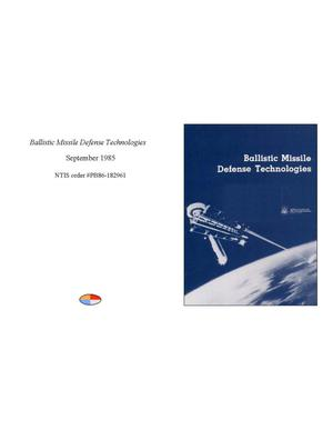 Primary view of object titled 'Ballistic Missile Defense Technologies'.