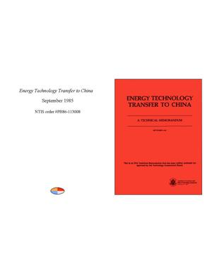 Primary view of object titled 'Energy Technology Transfer to China'.