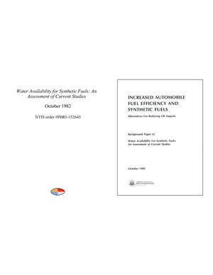Primary view of object titled 'Increased Automobile Fuel Efficiency and Synthetic Fuels: Alternatives for Reducing Oil Imports.'.