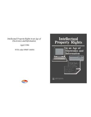 Primary view of object titled 'Intellectual Property Rights in an Age of Electronics and Information'.