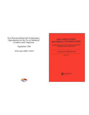Primary view of object titled 'New structural materials technologies: opportunities for the use of advanced ceramics and composites'.