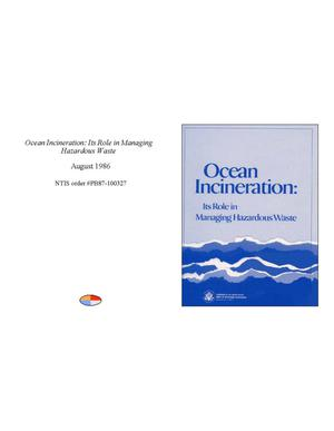Primary view of object titled 'Ocean incineration: its role in managing hazardous waste'.