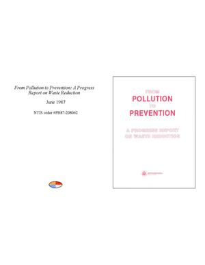 Primary view of object titled 'From pollution to prevention: a progress report on waste reduction'.