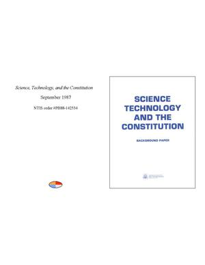 Primary view of object titled 'Science, technology, and the Constitution'.