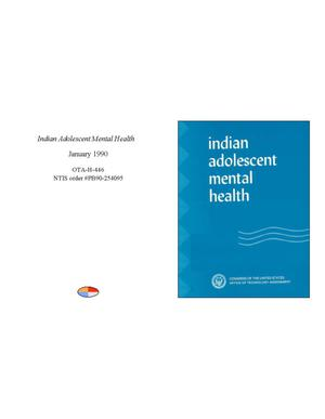 Primary view of object titled 'Indian Adolescent Mental Health'.
