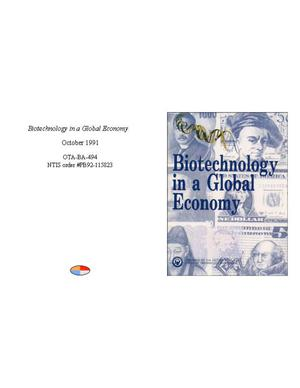 Primary view of object titled 'Biotechnology in a Global Economy'.