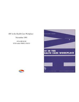 Primary view of object titled 'HIV in the Health Care Workplace'.