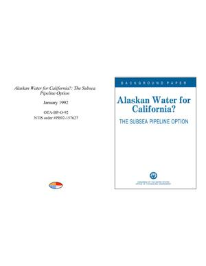 Alaskan Water for California?: The Subsea Pipeline Option