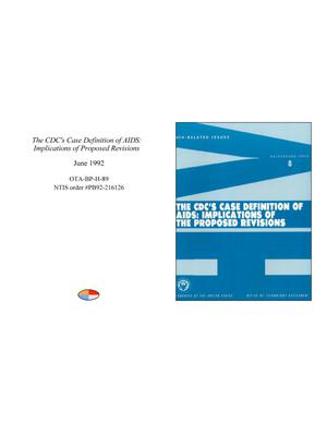 Primary view of object titled 'The CDC's Case Definition of AIDS: Implications of Proposed Revisions'.
