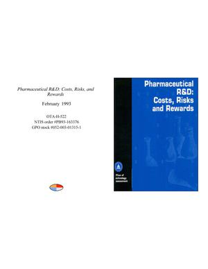 Primary view of object titled 'Pharmaceutical R&D: Costs, Risks, and Rewards'.