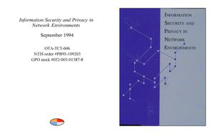 Primary view of object titled 'Information Security and Privacy in Network Environments'.