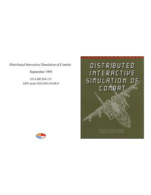 Primary view of object titled 'Distributed Interactive Simulation of Combat'.