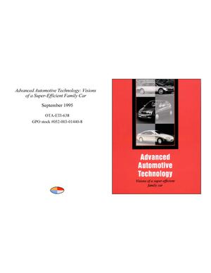 Primary view of object titled 'Advanced Automotive Technology: Visions of a Super-Efficient Family Car'.
