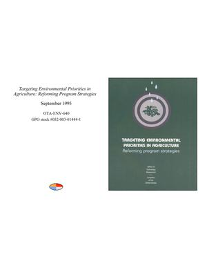 Primary view of object titled 'Targeting Environmental Priorities in Agriculture: Reforming Program Strategies'.