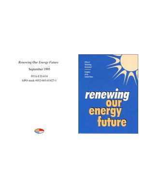 Primary view of object titled 'Renewing Our Energy Future'.