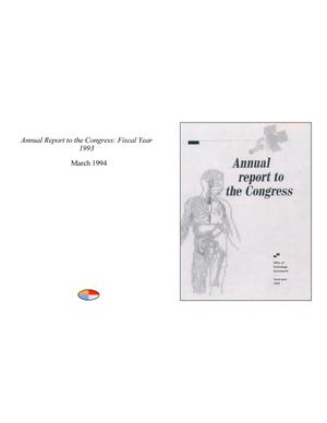 Primary view of object titled 'Annual Report to the Congress: Fiscal Year 1993'.