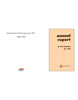Primary view of object titled 'Annual Report to the Congress for 1981'.