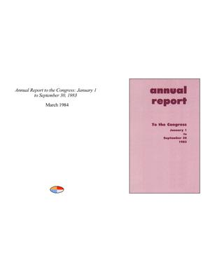 Primary view of object titled 'Annual Report to the Congress: January 1 to September 30, 1983'.