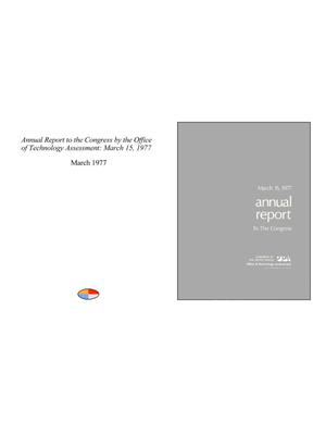 Annual Report to the Congress by the Office of Technology Assessment: March 15, 1977