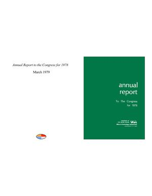 Primary view of object titled 'Annual Report to the Congress for 1978'.