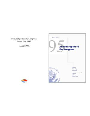 Primary view of object titled 'Annual Report to the Congress: Fiscal Year 1995'.