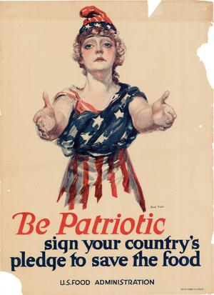 Be patriotic : sign your country's pledge to save the food.