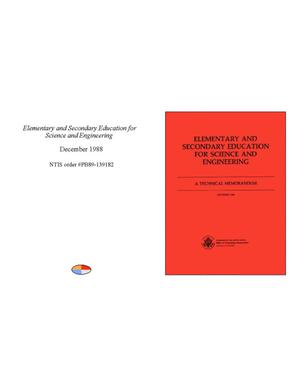 Primary view of object titled 'Elementary and Secondary Education for Science and Engineering'.