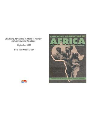 Primary view of object titled 'Enhancing Agriculture in Africa: A Role for U.S. Development Assistance'.