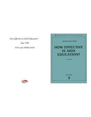 Primary view of object titled 'How effective is AIDS education?'.