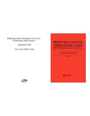 Primary view of object titled 'Reducing Launch Operation Costs: New Technologies and Practices'.