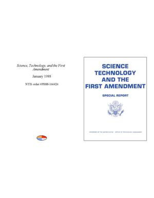 Primary view of object titled 'Science, Technology, and the First Amendment: special report'.