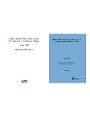 Primary view of object titled 'Urban Ozone and the Clean Air Act: Problems and Proposals for Change'.