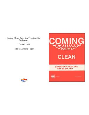 Primary view of object titled 'Coming Clean: Superfund Problems Can Be Solved...'.