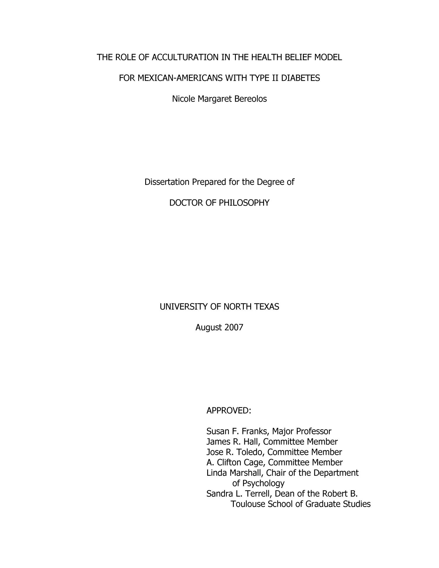 dissertations on lifestyle diseases