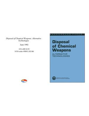 Primary view of object titled 'Disposal of Chemical Weapons: Alternative Technologies'.