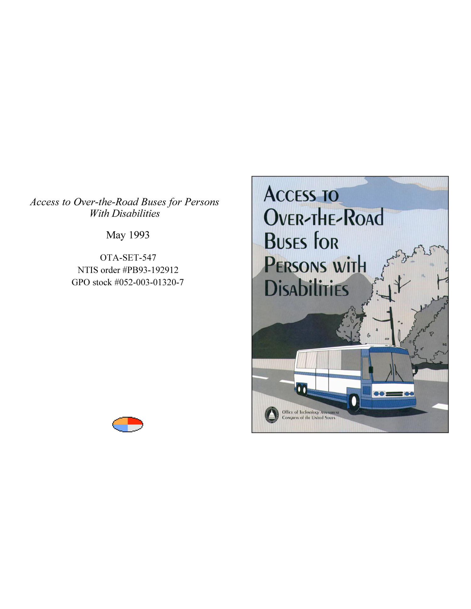 Access to Over-the-Road Buses for Persons With Disabilities                                                                                                      Front Cover
