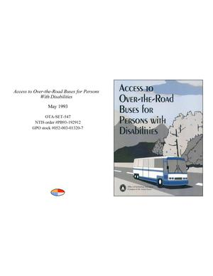 Primary view of object titled 'Access to Over-the-Road Buses for Persons With Disabilities'.