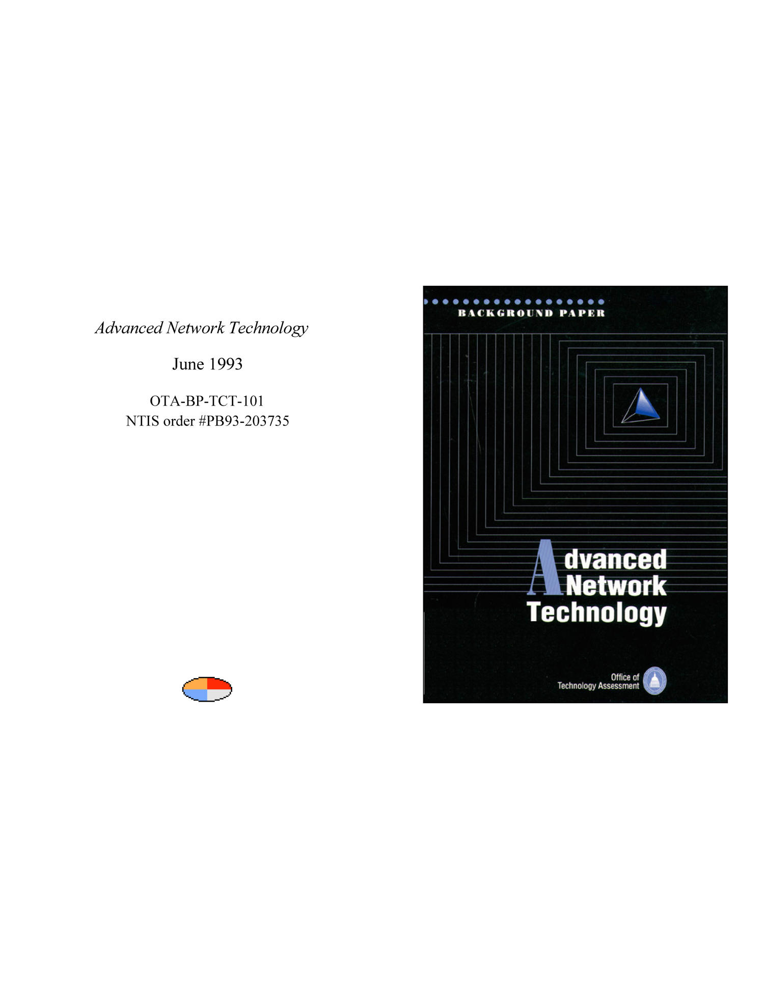 Advanced Network Technology                                                                                                      Front Cover