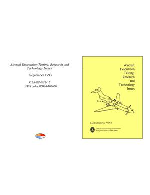 Aircraft Evacuation Testing: Research and Technology Issues