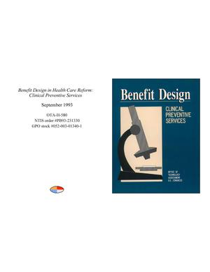 Primary view of object titled 'Benefit Design in Health Care Reform: Clinical Preventive Services'.