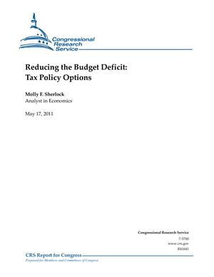 Reducing the Budget Deficit: Tax Policy Options