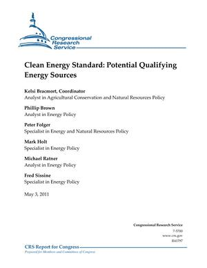 Clean Energy Standard: Potential Qualifying Energy Sources